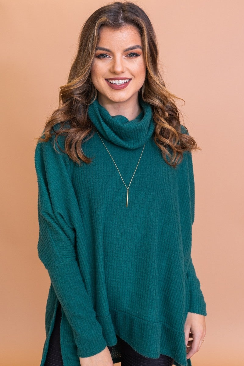 Fall Nights Sweater in Hunter