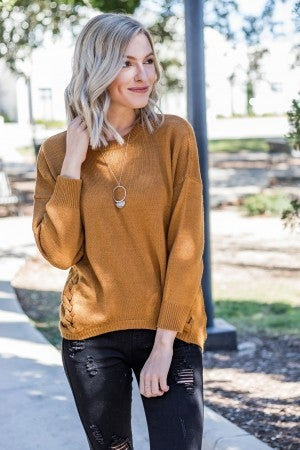 All About The Braids Sweater