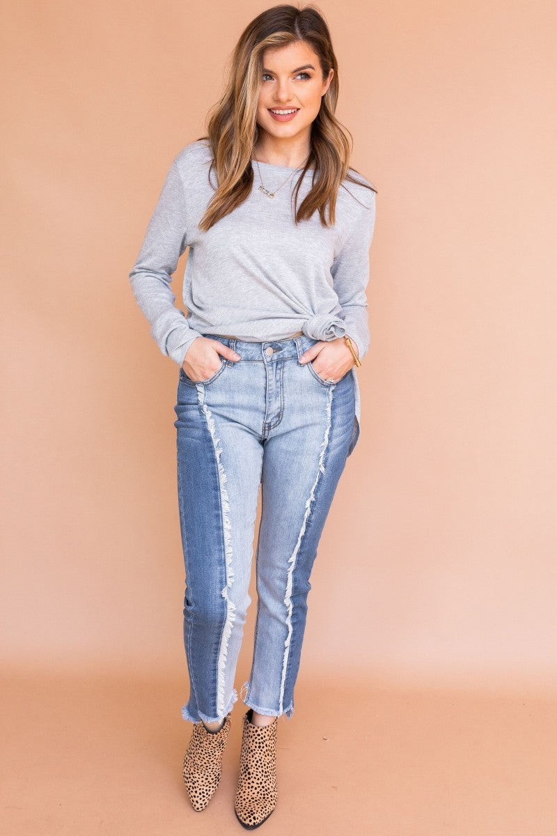 Change your Two-Tone Denim