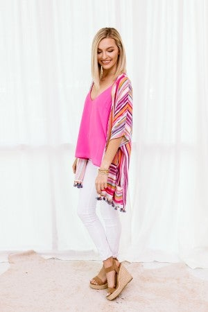 Colored in Stripes Kimono