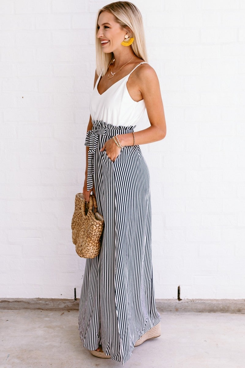 Pictured in Stripes Maxi