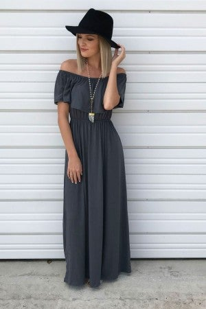Grand Entrance Maxi in Charcoal