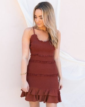 Mine Forever Dress in Terracotta
