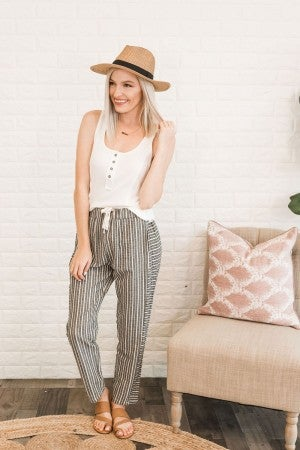 Have Your Way Striped Pants