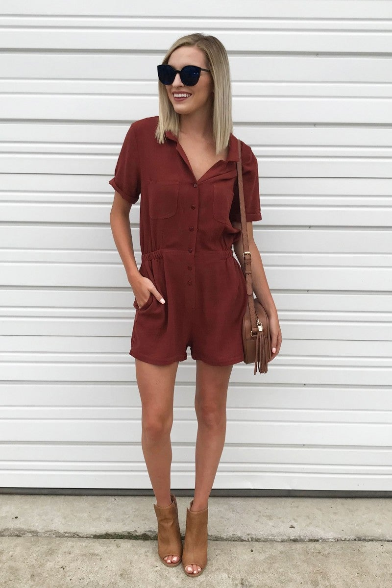 Falling into Place Romper