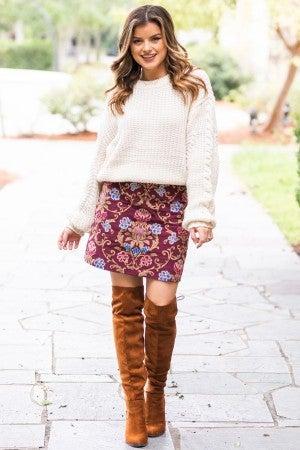 Fall Details Skirt