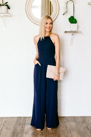 Navy Over Everything Jumpsuit