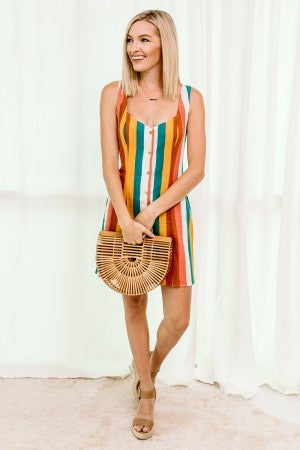 Spotted in Stripes Dress