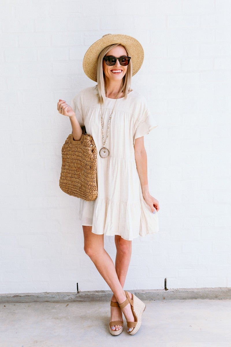 All Natural Tiered Dress
