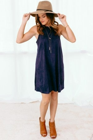 Longing for Navy Dress