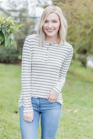 Olive It Striped Top