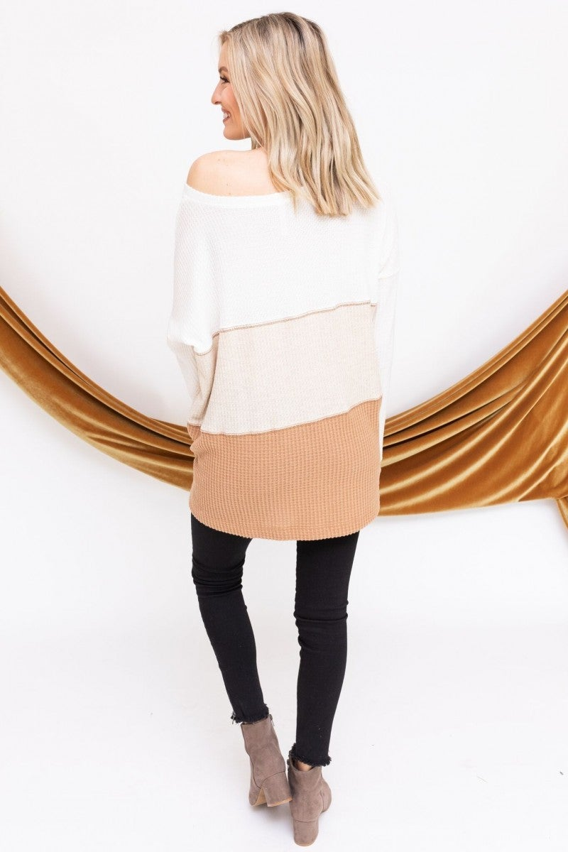 Leave it in Neutrals Sweater