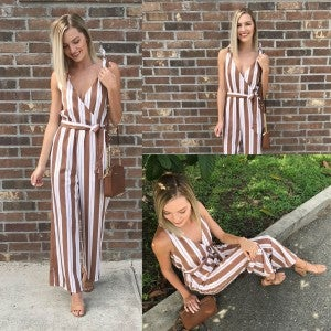 Tied to Fall Jumpsuit