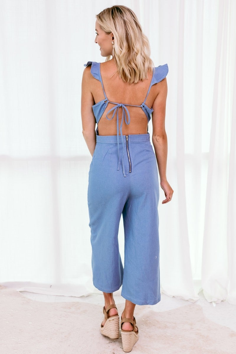 Dressed in Denim Jumpsuit