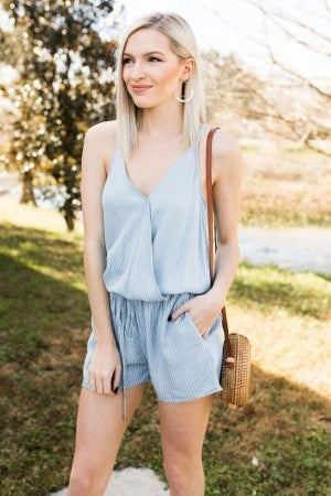 Picnic Perfect Denim Romper