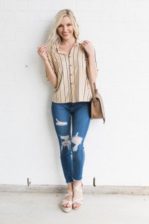 Striped and Ready Top