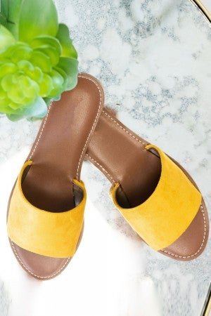 Easy Going Sandal in Mustard