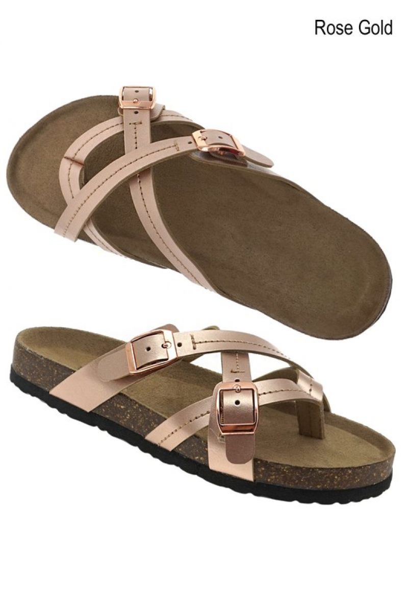 Triple Cross Sandals
