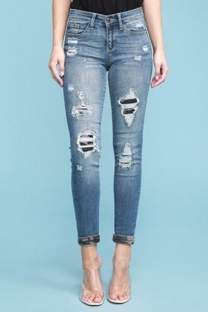 Judy Blue- Camoflauge Patch Skinny