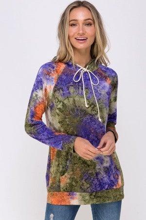 Multi color Tye Dye hoodie