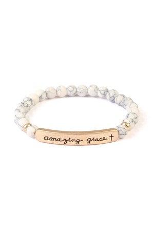 Amazing Grace stretch bracelet