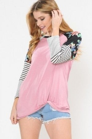 Color block sleeve reglan