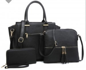 Fashion shoulder bag with 3-in-1 Satchel
