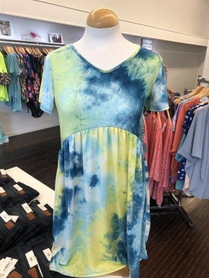 Tie Dye Babydoll Dress