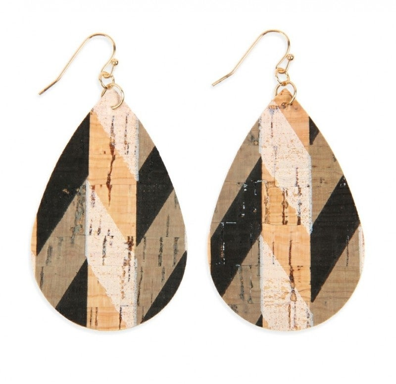 Cork Teardrop Earrings