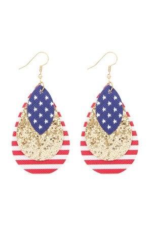 Stars, stripes & shimmer earrings