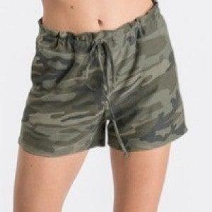 Drawsting soft Camo shorts