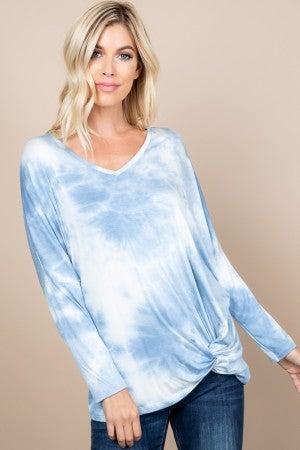 Blue Tye dye dolman