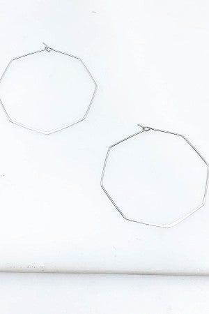 """Hexagon Hoop Earrings 2"""""""