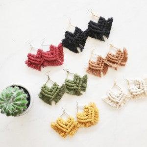 Knotty Girls Macrame Earrings