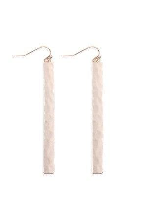 Bar hammered drop Earrings