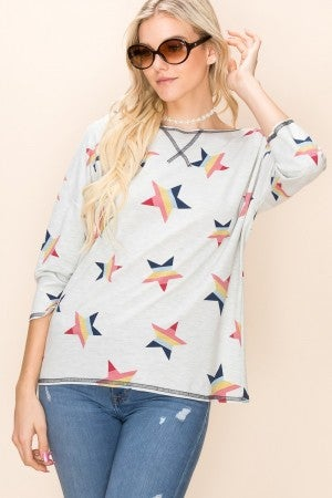 Star pullover top