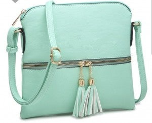 Tassle Zipper crossbody Bag