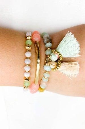 3 Strand Tassel Bracelet Set