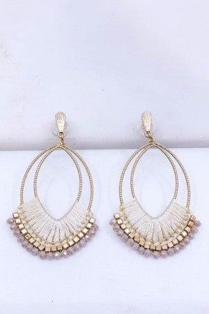Threaded Statement Earrings