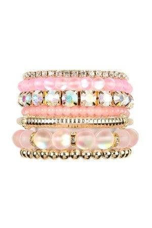 Pink Stretch bracelet set
