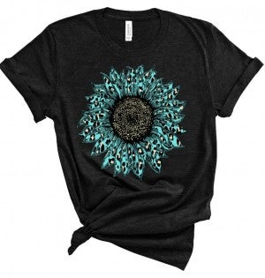 Aqua/Teal Sunflower *Graphic Tee Pre-Order*