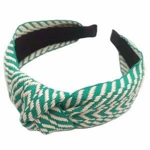 Striped Knit Knot Headband