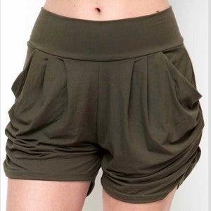 Olive Harem Shorts