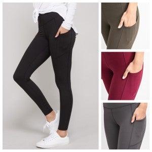 Full Length Solid Pocket Leggings