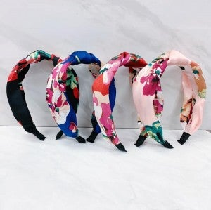 Forget Me Knot Floral Headband - 4 Colors
