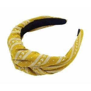 Yellow Canary Twisted Headband