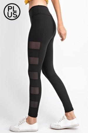 Full Length Side Mesh Panel Leggings