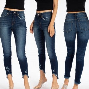 High Rise Ankle Skinny KanCan
