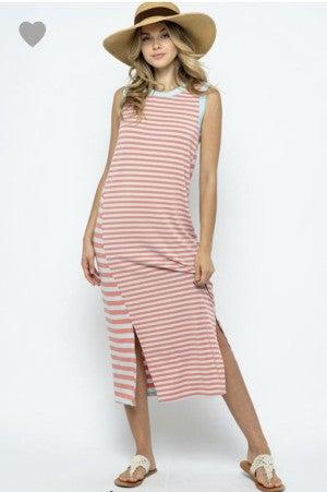 Tess Striped Midi Dress
