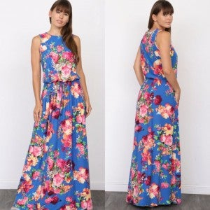 Azure Floral Maxi